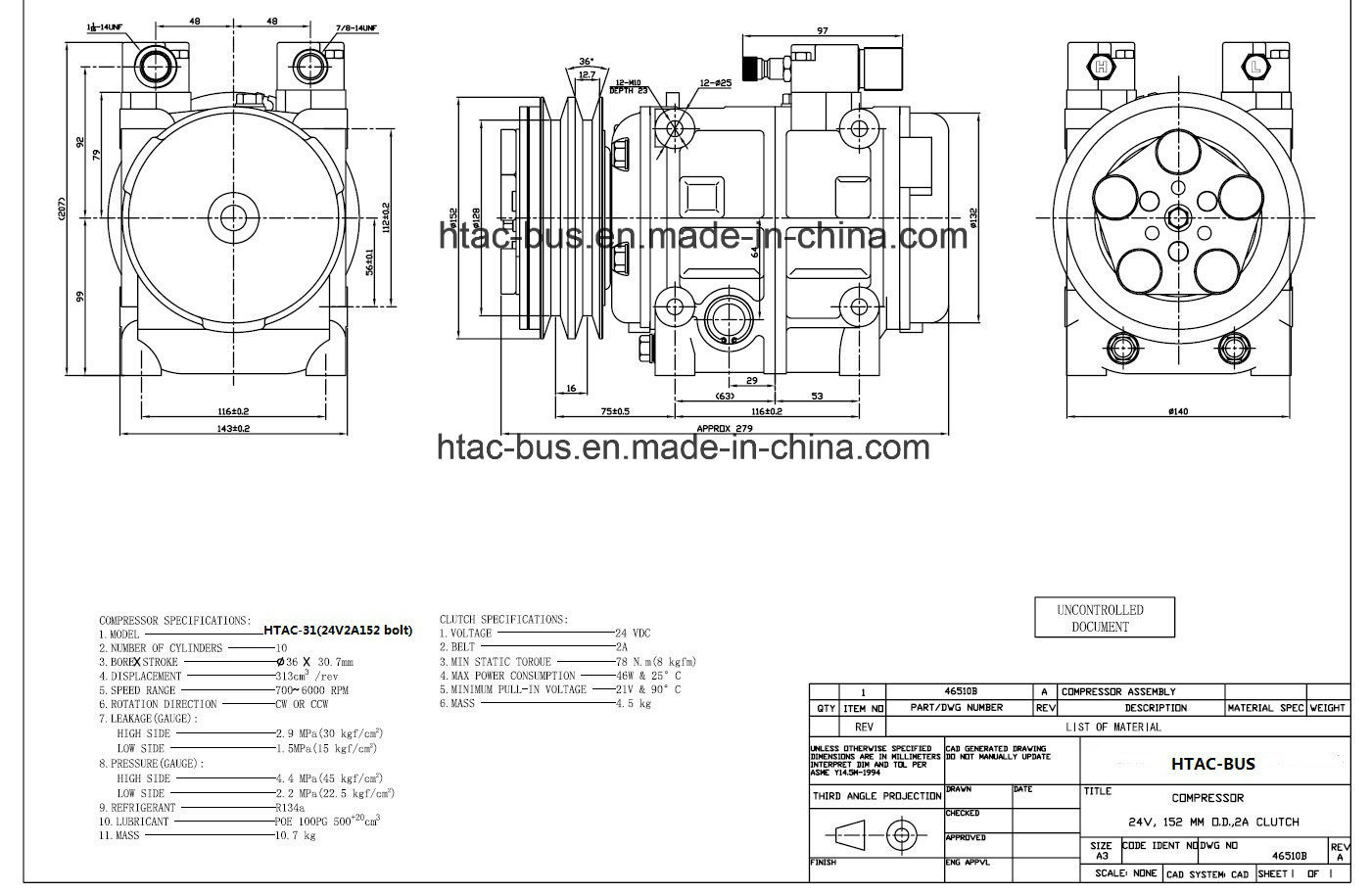 China High Quality Toyota Coaster A C Compressor With 2a