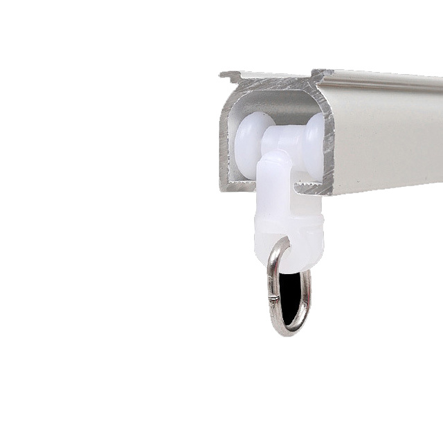 hot item hotel aluminium curtain track with ceiling or wall mounting and with pulley system