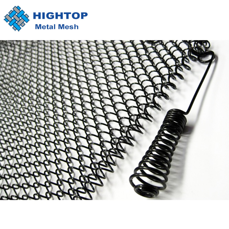 hot item replacement chain link mesh hanging curtain rod kit for lowes fireplace black screen