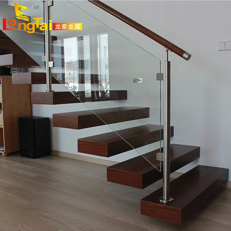China Stainless Steel Indoor Tempered Glass Handrail Stair Railing | Staircase Railing With Glass | Low Cost | Cost | Residential | Pinterest | Spiral