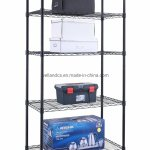 Hot Item Multi Purpose 5 Tiers Light Duty Nsf Adjustable Black Metal Storage Rack Shelving On Wheels