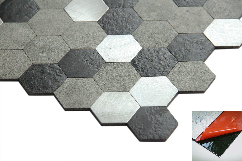 china marble looking hexagon pvc self