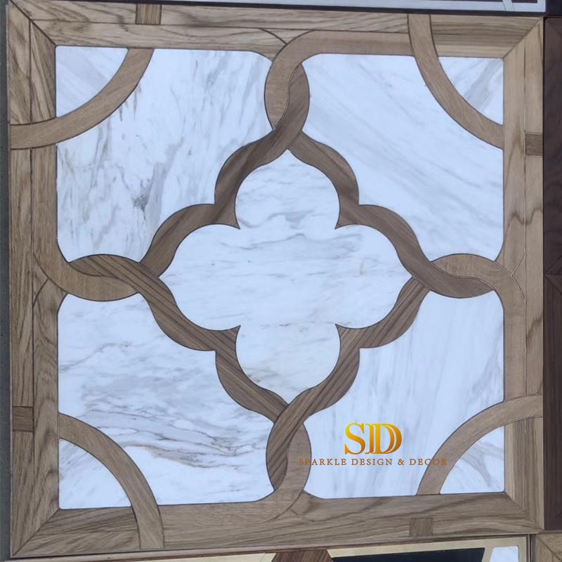 china hotsale white marble and wood