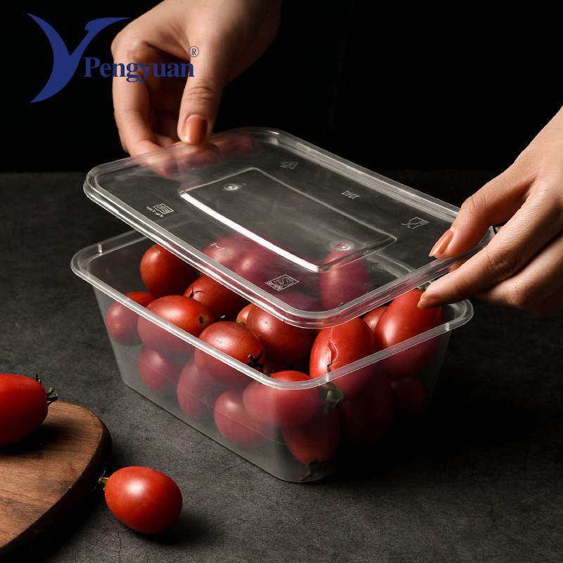 china 500 ml disposable microwave clear