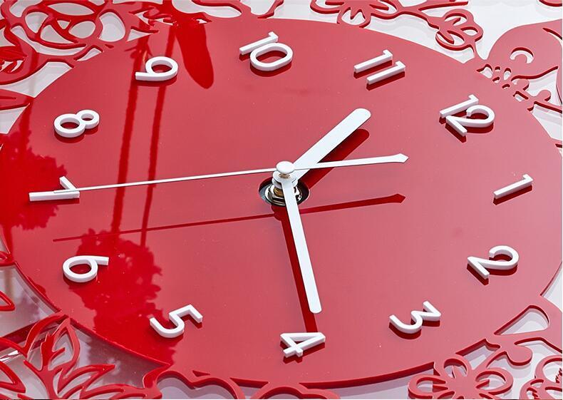 la chine don horloge horloge murale mode affichage acrylique