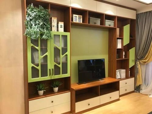 meuble tv avec porte de verre