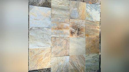 china natural split green slate tiles