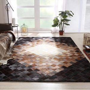 luxury cowhide patchwork leather carpet rug leather carpets rugs mats for home hotel office restaurant villa