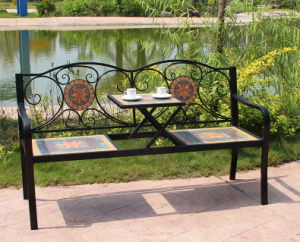 china country style mosaic patio bench