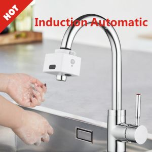 no contact no touch inductive infrared sense faucet two sensor automatic on and off water faucet filter sterilization