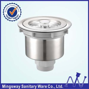 kitchen sink strainer with removable deep waste basket stainless steel drain strainer assembly sealing lid