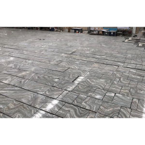 cheap natural stone gray cloudy wave marble floor tile