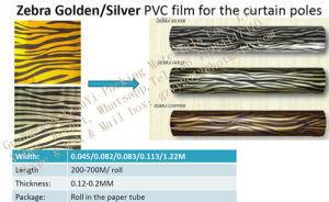china zebra golden and silver pvc film