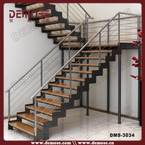 China U Shape Staircase Steel Wood Stairs Dms 3034 China Steel   Steel Steps For Stairs   Iron Plate   Steel Structure   2 Step   Metal Floor Plate   Double Stringer