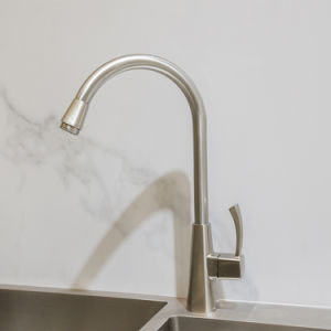 modern single handle upc stainless faucet for kitchen sink