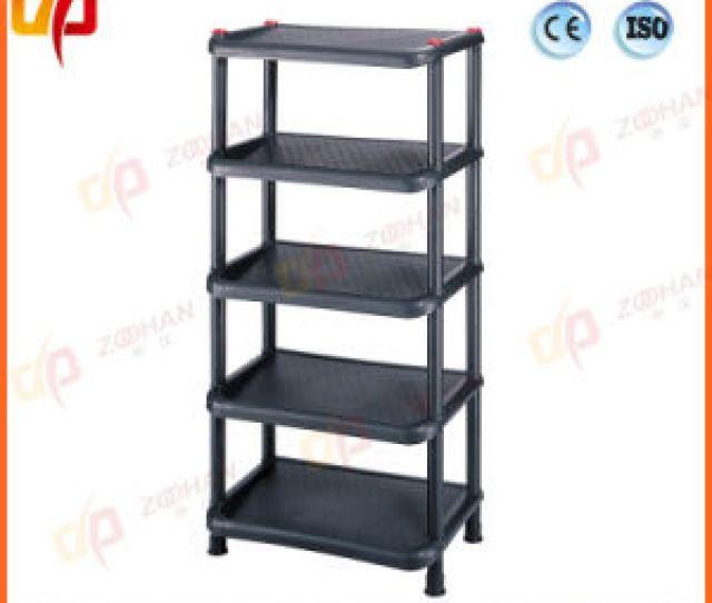 Plastic Display House Office Shelves Storage Rack Zhw