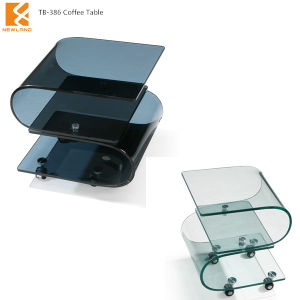 china modern s shaped glass coffee