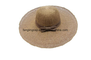 China Farmer Straw Hat With Bowknot China Straw Hat And Floppy Hat Price