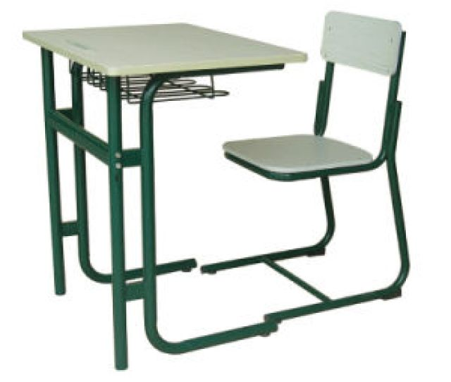 Single Seat Fixed School Study Table Chair Standard Size Used Attached School Table Chair
