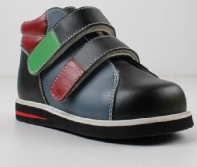 Fashionable Design Kids Orthopedic Shoes Children Support Leather Shoes