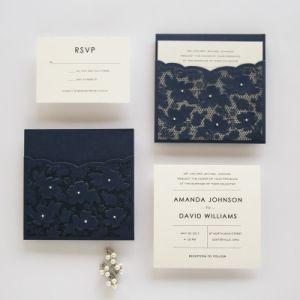 Free Design And Print Tri Fold Elegant Laser Cut Wedding Cards Invitation Card Envelopes