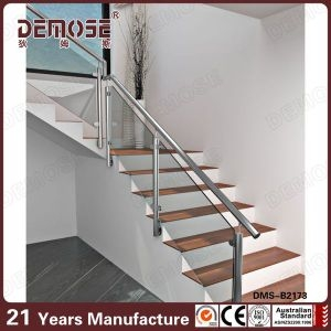China Indoor Stair Glass Panel Railings Dms B2173 China Indoor   Glass Panel Stair Railing   Toughened   Square   Framed Glass   Staircase   Banister