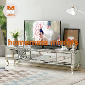 China High Quality Living Room Furniture Mirror Tv Table Stand Cabinet China Mirrored Tv Table Mirrored Tv Stand Cabinet