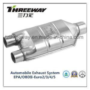 china car exhaust system three way