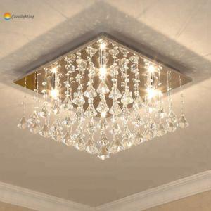 modern diamond crystal ceiling light