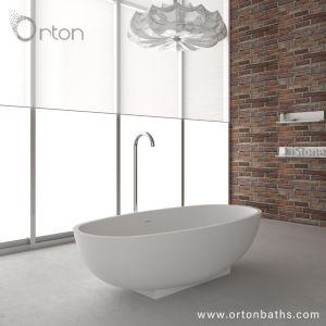 pierre artificielle moderne acrylique pur a surface solide un entretien facile baignoire