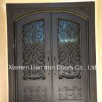 Lion Iron Doors Metal Glass Double Front Entry Doors Designs For House China Steel Fire Door Metal Side Door Made In China Com