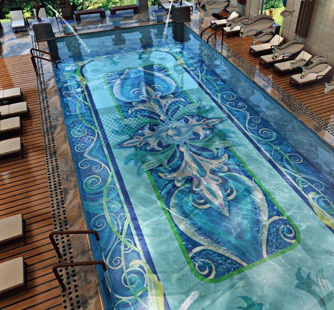 swimming pool 3d blue pool tile china