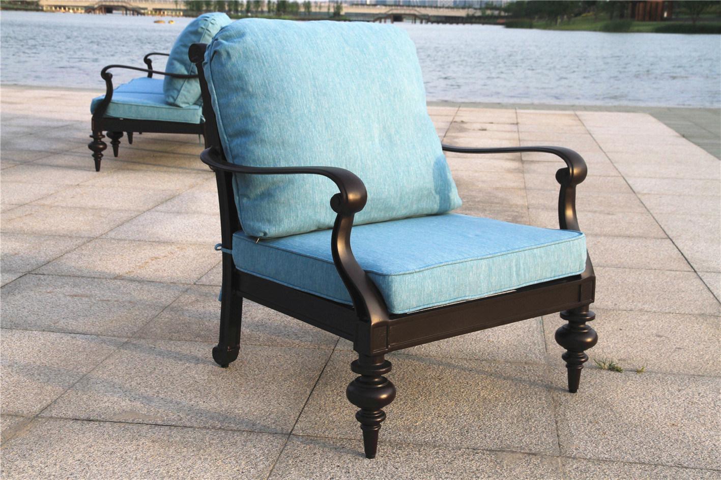 cast aluminum patio furniture chat