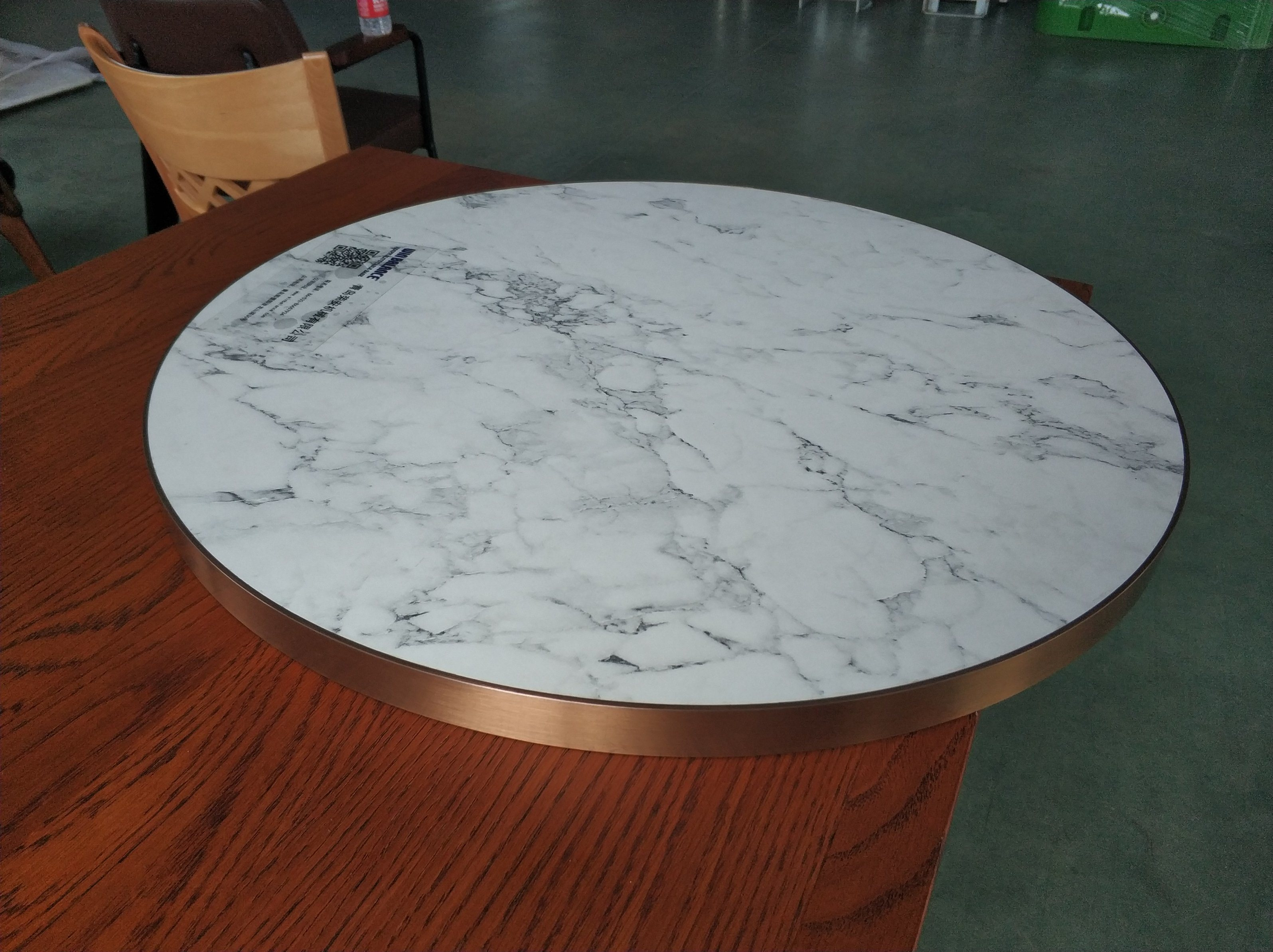 white marble top cheap wooden table top