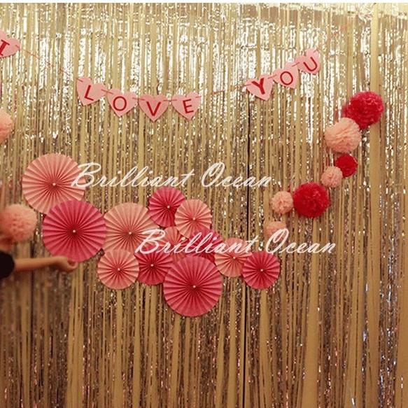brilliant foil fringe curtain glitter