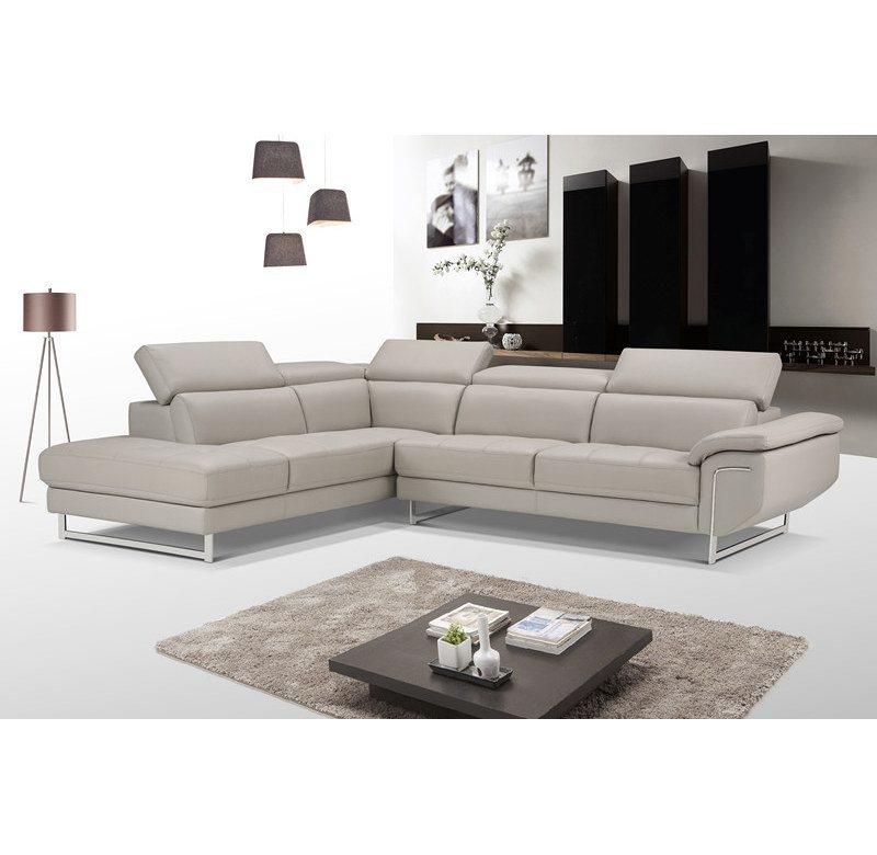 new italian style modern u shaped white