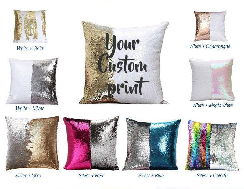 mermaid sequin pillow case cushion