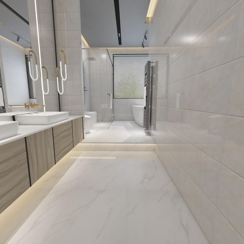 modern inexpensive bathroom shower wall