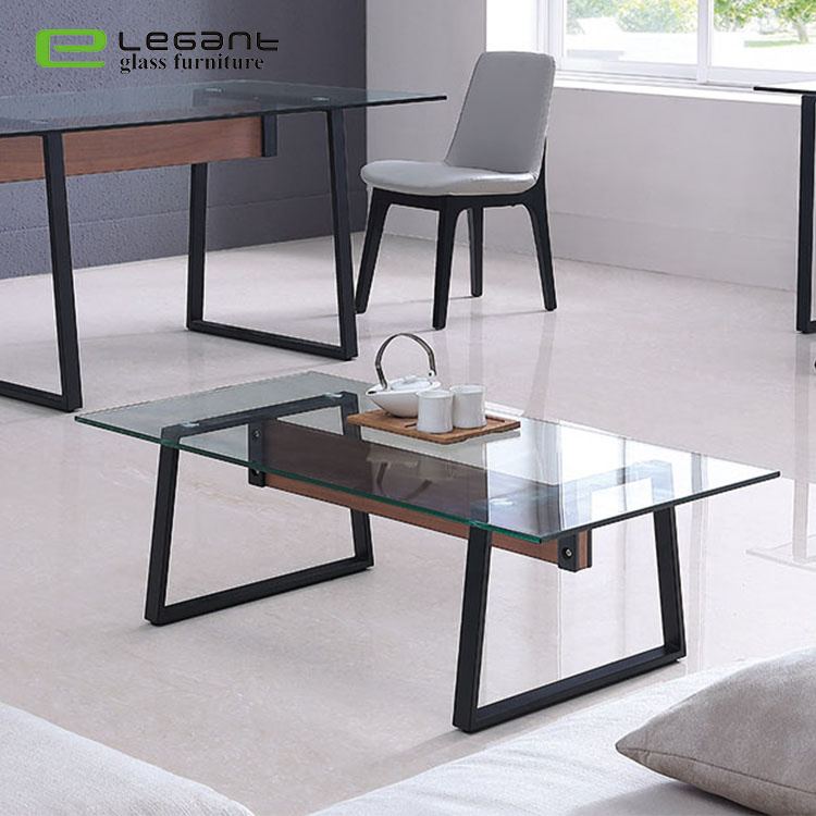 simple living room glass furniture