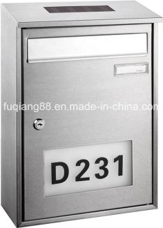 China Fq 182 Wall Mounted Stainless Steel Solar Mailbox with House     Fq 182 Wall Mounted Stainless Steel Solar Mailbox with House Numbers Light Address  Numbers Doorplate