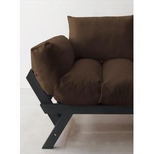 ソファー 2.5人掛け 座面カラー:ブラウン フレームカラー:ダークブラウン 北欧デザイン天然木フレームソファ Lapua ラプア