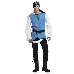 コスプレ衣装/コスチューム 【メンズ】 身長180cm迄 ポリエステル 『ファンタジーブルーパイレーツ』