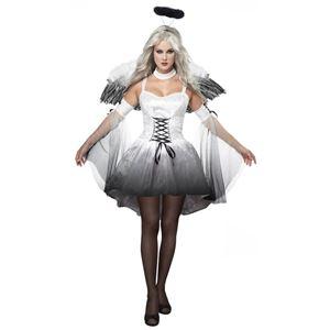 コスプレ衣装/コスチューム California Costumes ANGEL OF DARKNESS / ADULT 【ドレス・羽・つけ袖・輪・チョーカー】