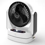 サーキュレーターファン 7段階風量調整可 リモコン付き タイマー搭載 パールホワイト(白) UCF-DHR20J-W