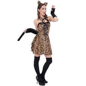 コスプレ衣装/コスチューム 【Cutie Leopard キューティーレオパード】 ポリエステル 『CLUB QUEEN』 〔ハロウィン イベント〕