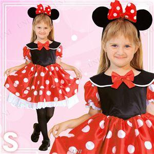 ディズニーコスプレ/コスプレ衣装 【Child Minnie S ミニーマウス】 子供用 〔ハロウィン イベント〕