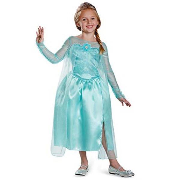 ディズニー DISNEY エルサ スノークイーン ガウン アナと雪の女王 コスチューム 子供用M ハロウィン コスプレ 衣装店