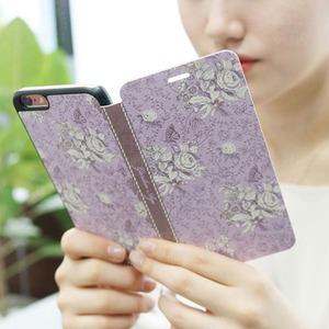 MrH(ミスターエイチ)スマホフリップケース/ガーデンエイジ・ヴァイオレットBy iphone6plus