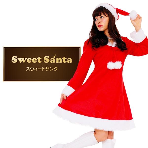 【クリスマスコスプレ 衣装】Peach×Peach レディース スイートサンタクロース サンタコスプレ女性用 ワンピース  ハロウィン コスプレ 衣装店