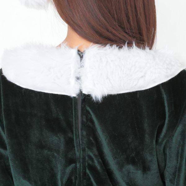 Peach×Peach ラブリーサンタクロース ダークグリーン(緑) ワンピース 女性用サンタコスプレ